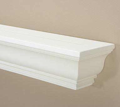 crown molding ledge 3 39 antique white traditional. Black Bedroom Furniture Sets. Home Design Ideas
