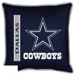 dallas cowboys sideline toss pillow game room and bar decor by