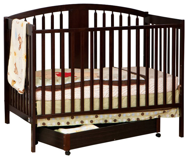 Stork Craft Hollie 4 In 1 Fixed Side Convertible Crib In