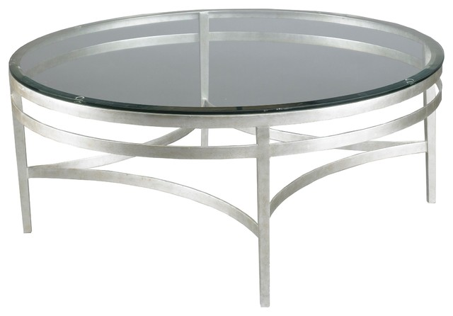 Lillian August Leila Round Cocktail Table In Silver La99311 01 Contemporary Coffee Tables