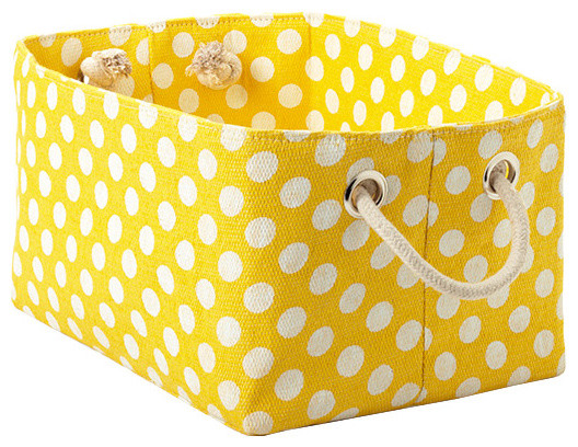 The Container Store > Large Polka Dot Storage Bin  storage boxes