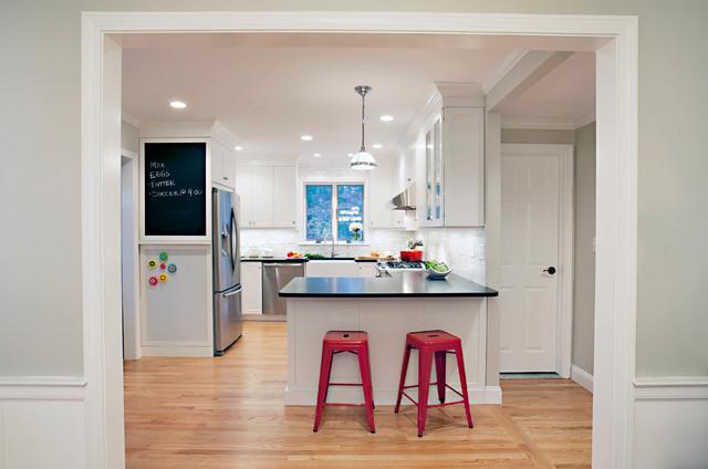 White Hipster Kitchen Transitional Kitchen