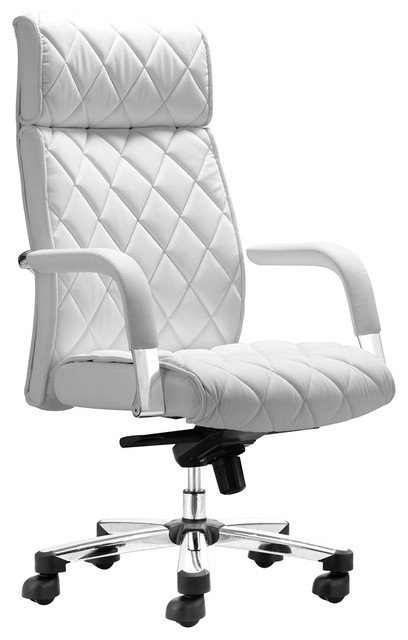 zuo regal white office chair contemporary office chairs by euro style lighting. Black Bedroom Furniture Sets. Home Design Ideas