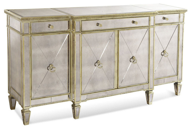 Bassett Mirror 8311-576 Borghese Mirrored Buffet/Server contemporary-buffets-and-sideboards