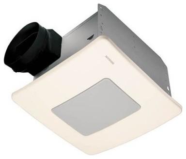 Broan-Nutone QTXE110FLT Ultra Silent Bathroom Fan / Light / Night-Light - ENERGY modern-ceiling-fans