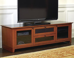 Nylah Home Theater Media Cabinet traditional media storage