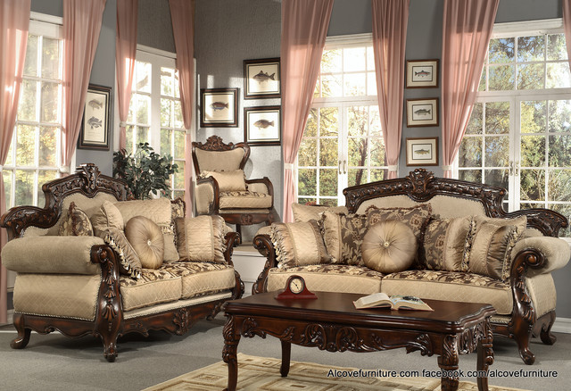 Antique overstuffed chairs - Traditional Sofa Sets Living Room Sets