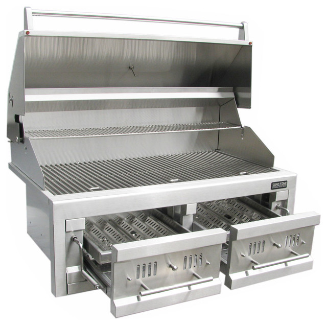 Sunstone grills 42quot dual zone 304 stainless steel for Outdoor grillküche