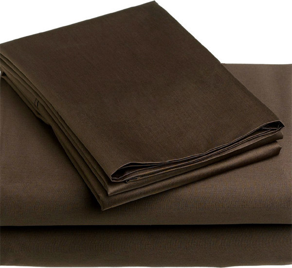 4 Piece Chocolate Brown California King Bedding Sheet Set contemporary-sheet-and-pillowcase-sets