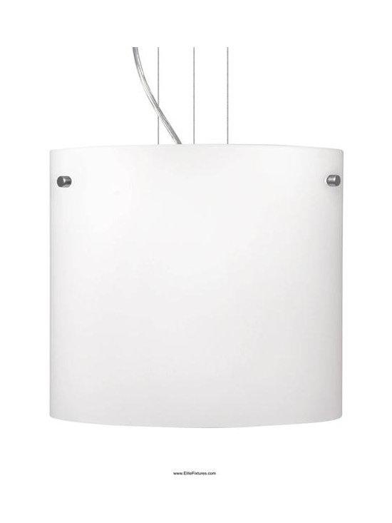 Besa Lighting 1KG-418407-SN One Light Nickel Drum Shade Pendant -