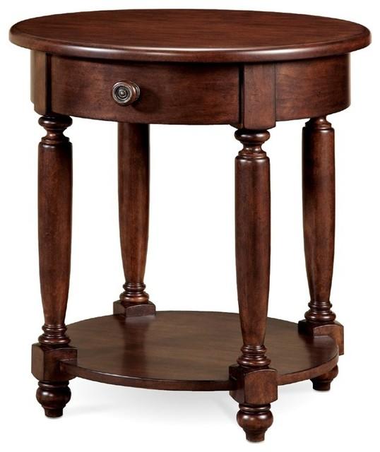 Art furniture sutton bay round nightstand art 152144 for Round nightstand tables