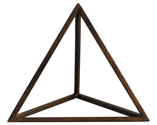 """Inviting Home - Platonic Figure, Fire - Platonic figure - Fire; 8-1/2"""" x 8-1/8"""" x 7-1/2""""H; The Element - Fire; a Platonic figure of 4 triangles (Tetrahedron). From delicate pieces of wood skilled craftspeople hand construct these fragile forms truly resembling the beauty and harmony of nature's perfection."""