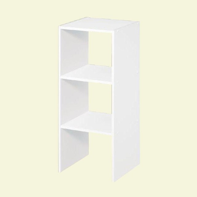 ClosetMaid Closet Organization 12 in. White Stackable Storage Organizer 7070 - Contemporary ...