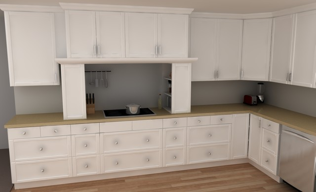 Traditional ikea kitchen adel white traditional for Adel kitchen cabinets ikea