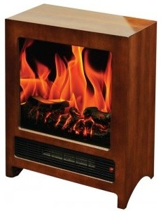Kingston - Free-Standing Electric Fireplace, 2 Heat Levels-1350W/675W, 110V modern-indoor-fireplaces