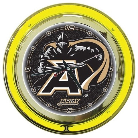 Army 14-in. Neon Wall Clock eclectic clocks