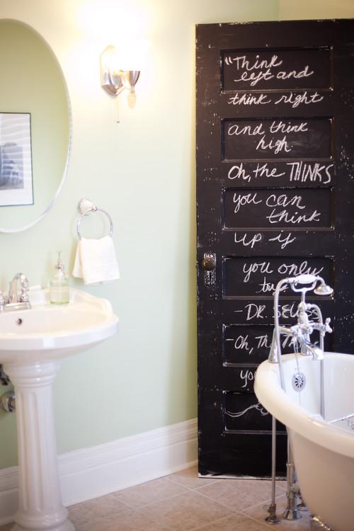 traditional bathroom Where to Use Chalkboard Paint