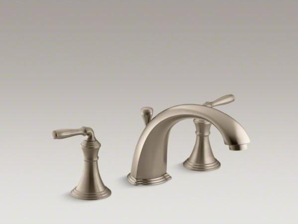 KOHLER Devonshire(R) deck-/rim-mount bath faucet trim for high-flow valve with 8 contemporary-bathroom-faucets-and-showerheads