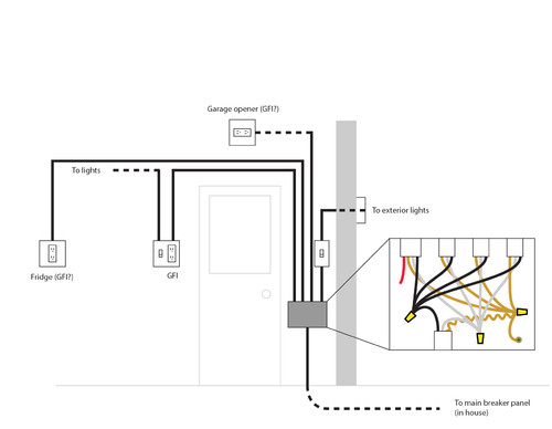 Wiring Diagram For A Detached Garage : Expanding adding wiring in detached garage