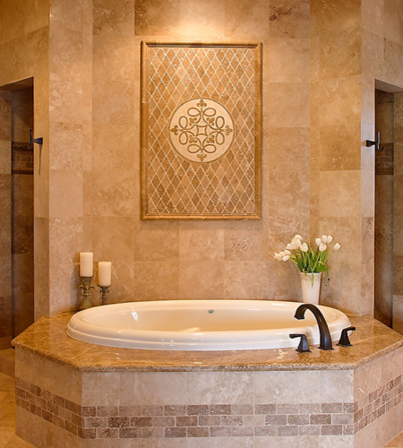 Bathroom Design Mexican Tile : Master bath tub and shower area traditional bathroom