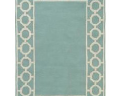 Border teal contemporary-rugs