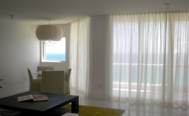 WINDOW TREATMENTS MIAMI & NEW YORK contemporary-curtains