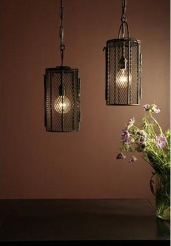 BoBo Intriguing Objects Dye Basket Pendant traditional-pendant-lighting