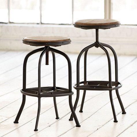 Allen stool industrial bar stools and counter stools - Traditional kitchen bar stools ...