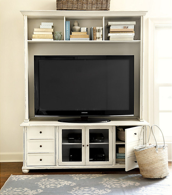 Vetrina Media 60 inch Console with Hutch - Traditional - Entertainment Centers And Tv Stands ...