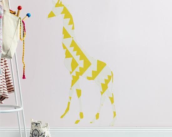 Small Giraffe Flashy Forest Wall Decal -