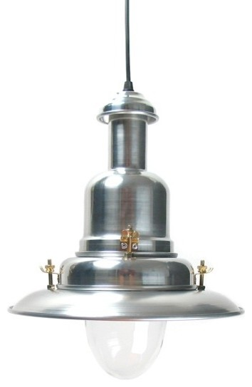 Fisherman's Lamp - Silver traditional-pendant-lighting