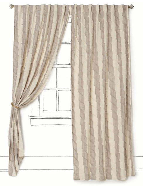 Waving Stripes Curtain - Anthropologie.com  curtains