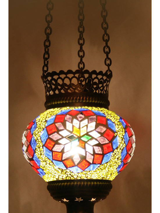 Turkish Style Mosaic Pendant Lamp 12cm - Decorative Mosaic Glass Turkish Style Pendant Ligting
