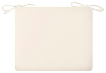 """Patio Seat Cushion 18""""x18""""x3-1/2"""" - Eggshell contemporary-outdoor-cushions-and-pillows"""