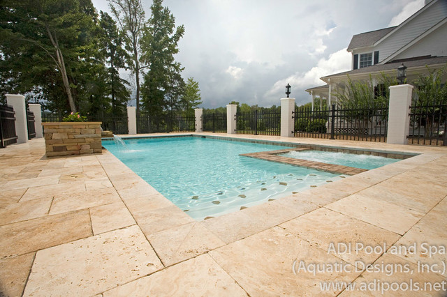 789 roxboro nc traditional pool raleigh by adi for Pool design raleigh nc