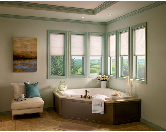 Lutron - Lutron's Automated Insulated Honeycomb shades are a great solution for hard to reach windows.