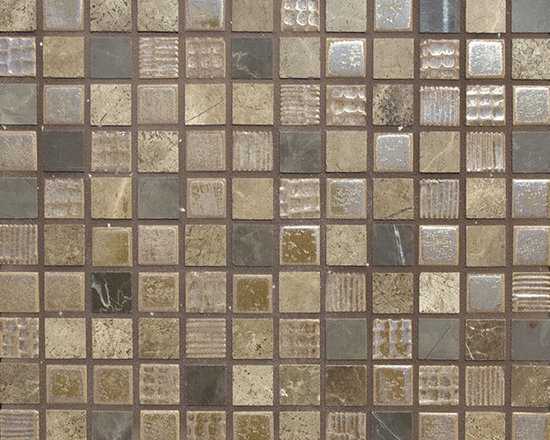 Cascade Blend #7 - The Cascade Collection includes 11 different blends of ceramic tile and natural stone