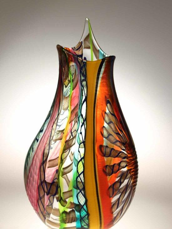 Murano Glass Studio Vases -
