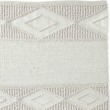 Ivory Macrame Wool Rug traditional rugs