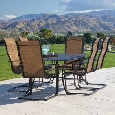 Summer winds metropolitan patio dining set seats 6 for Summer winds patio furniture