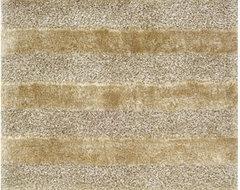 Fusion Shag Gold/Grey Rug modern-rugs