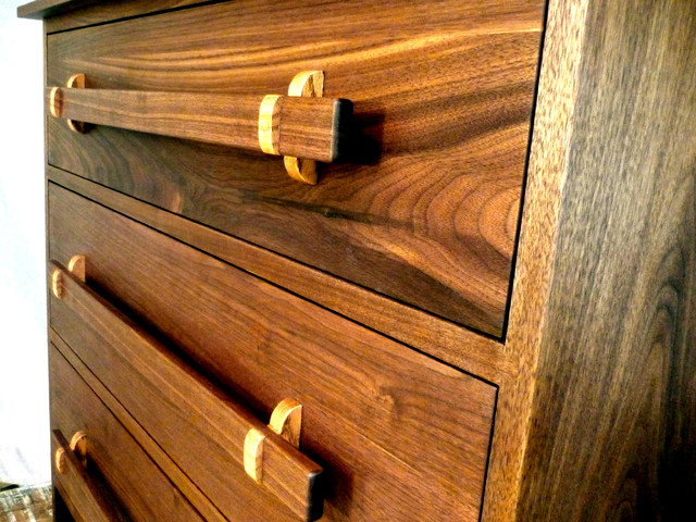 Walnut Dressers--dovetailed carcase asian