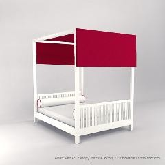 ducduc cabana canopy bed (full size) modern-canopy-beds