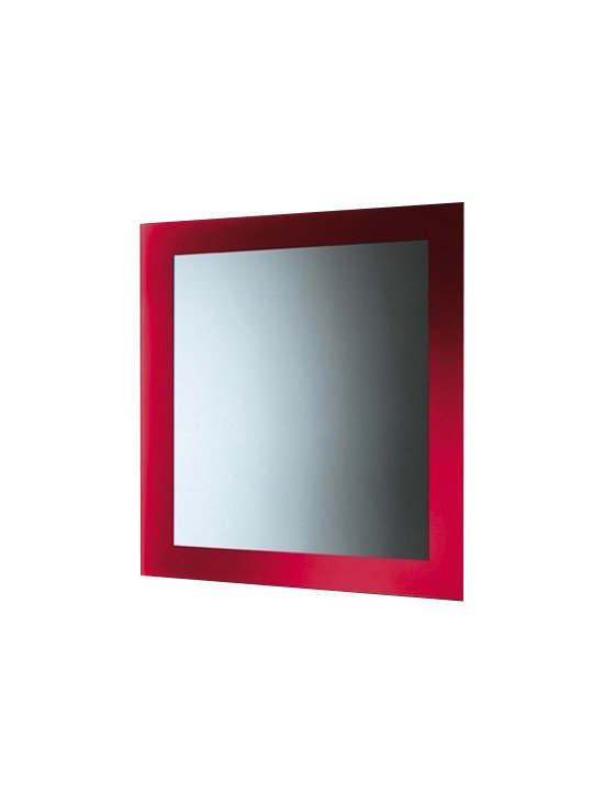 Gedy - Red Horizontal or Vertical Mirror With Frame - Need a vanity mirror? This one is a wall modern vanity mirror that will fit perfectly into your contemporary bath.