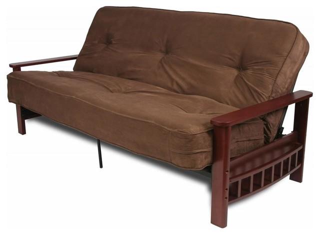 Futon Frame w Storage Arms contemporary-futons