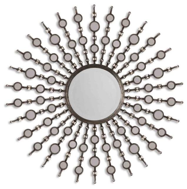 Grace Feyock Kimani Contemporary Round Mirror X-B 18531 contemporary-mirrors