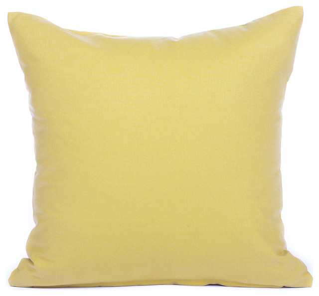 Solid Mustard Yellow Accent / Throw Pillow Cover - Contemporary - Decorative Pillows - by Silver ...