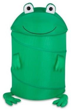 Honey Can Do Large Kids Pop-Up Hamper - Frog - modern - hampers ...