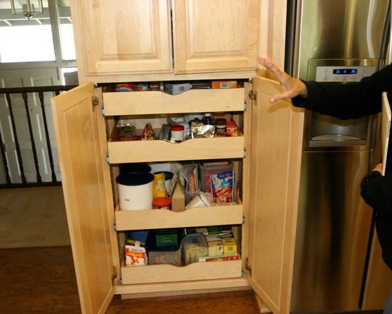 Connivence Hardware - Roll-out pantry cabinet.