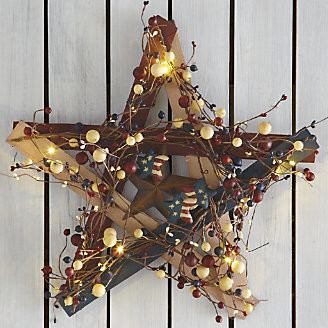 Lit Barn Star - contemporary - outdoor decor - by Through the